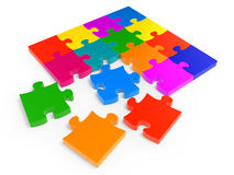 Colorful jigsaw puzzle Stock Images