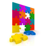 Colorful jigsaw puzzle Royalty Free Stock Photos