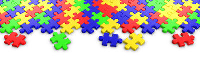 Colorful Jigsaw puzzle Royalty Free Stock Image