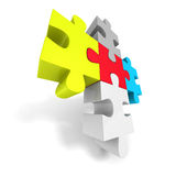 Colorful Jigsaw Puzzle Concept Icon Royalty Free Stock Image
