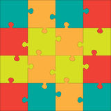 Colorful Jigsaw  puzzle. Every piece is a single shape. Seamless puzzle texture. Puzzle template. Cutting guidelines. Eps 8 Stock Photography