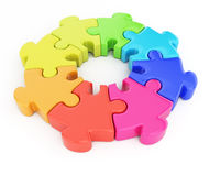 Colorful jigsaw puzzle Stock Photography