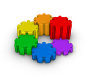 Colorful jigsaw puzzles Stock Image