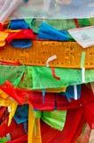 Colorful Jingfan. Colorful Tibetan's prayer flags(Jingfan), taken in Taer Temple, Qinghai,China Stock Images