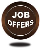 Colorful job offers web button click, application. Colorful job offers web icon and sales expired date designing  for a clean, crisp look. job offers logo Stock Image