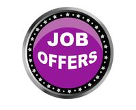 Colorful job offers web button click, application. Colorful job offers web icon and sales expired date designing  for a clean, crisp look. job offers logo Royalty Free Stock Image