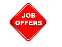 Colorful job offers web button click, application. Colorful job offers web icon and sales expired date designing  for a clean, crisp look. job offers logo Stock Photography