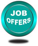 Colorful job offers web button click, application. Colorful job offers web icon and sales expired date designing  for a clean, crisp look. job offers logo Stock Images