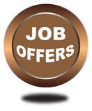Colorful job offers web button click, application. Colorful job offers web icon and sales expired date designing  for a clean, crisp look. job offers logo Stock Photos