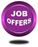 Colorful job offers web button click, application. Colorful job offers web icon and sales expired date designing  for a clean, crisp look. job offers logo Stock Photo