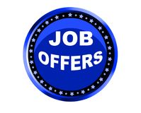 Colorful job offers web button click, application. Colorful job offers web icon and sales expired date designing  for a clean, crisp look. job offers logo Royalty Free Stock Photo