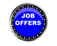 Colorful job offers web button click, application. Colorful job offers web icon and sales expired date designing  for a clean, crisp look. job offers logo Royalty Free Stock Photography