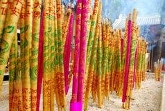 Colorful joss-stick Stock Photography