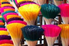 Colorful joss sticks in Vietnam Royalty Free Stock Photo