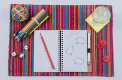 Colorful Journal Scene-Thoughts Royalty Free Stock Photo