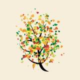 Colorful joyful buoyant tree Stock Photography