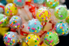 Colorful and joyfull lollipops Stock Image