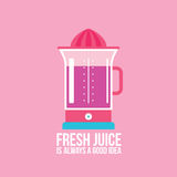 Colorful juicer on pink background Kitchen appliance Stock Photos