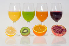Colorful juices Royalty Free Stock Photos