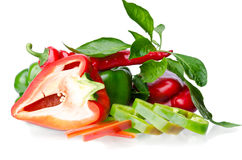 Colorful juicy peppers Stock Images