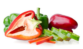 Colorful juicy peppers Royalty Free Stock Photos