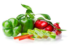 Colorful juicy peppers Royalty Free Stock Images