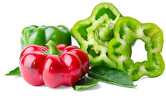 Colorful juicy peppers Stock Photography