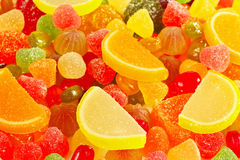 Colorful jujube and sweets close up Stock Photos