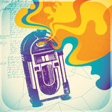 Colorful jukebox illustration. Stock Photography