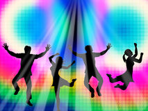 Colorful Jumping Means Friends Vibrant And Multicolored Royalty Free Stock Photo