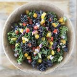 Colorful Kale Salad Royalty Free Stock Image