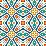 Colorful kaleidoscope abstract background. Eclectic mosaic tile. Bright seamless surface pattern with geometric ornament. Ornamental vivid wallpaper. Ethnic Royalty Free Stock Photo