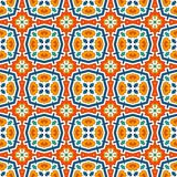 Colorful kaleidoscope abstract background. Eclectic mosaic tile. Bright seamless surface pattern with geometric ornament. Ornamental vivid wallpaper. Ethnic Royalty Free Stock Photography
