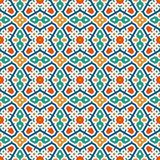 Colorful kaleidoscope abstract background. Eclectic mosaic tile. Bright seamless surface pattern with geometric ornament. Ornamental vivid wallpaper. Ethnic Royalty Free Stock Photos