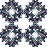 Colorful kaleidoscope in cold tones. Seamless pattern of colorful kaleidoscope in cold tones. Vector illustration Stock Photography