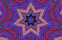 Colorful Kaleidoscope. Like star,picture of carpet royalty free illustration