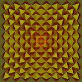 Colorful kaleidoscope pattern, abstract geometrical background. 3d illustration Stock Image