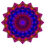 Colorful kaleidoscope pattern, abstract geometrical background. 3d illustration Stock Images