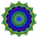 Colorful kaleidoscope pattern, abstract geometrical background. 3d illustration Royalty Free Stock Photos