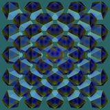 Colorful kaleidoscope pattern, abstract geometrical background. 3d illustration Stock Photography