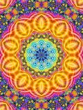 Colorful Kaleidoscope Pattern Indian stock image