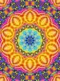 Colorful Kaleidoscope Pattern Indian Stock Image