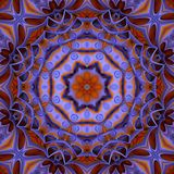Colorful Kaleidoscope Pattern purple and gold Stock Images