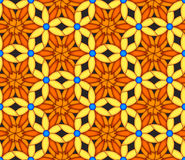 Colorful Kaleidoscope Seamless Background. Bright colored kaleidoscopic seamless background or pattern stock illustration