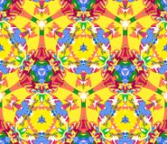 Colorful kaleidoscope seamless pattern. Seamless pattern composed of color abstract elements located on white background. Royalty Free Stock Photography