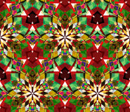 Colorful kaleidoscope seamless pattern. Seamless pattern composed of color abstract elements located on white background. Stock Photo
