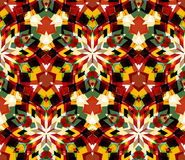 Colorful kaleidoscope seamless pattern. Seamless pattern composed of color abstract elements. Stock Images