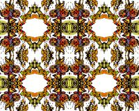 Colorful kaleidoscope. Seamless pattern of colorful kaleidoscope on white backgound. Vector illustration Royalty Free Stock Image