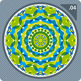 Colorful kaleidoscope. Vector. Abstract vector illustration depicting colorful floral kaleidoscope Royalty Free Stock Photos