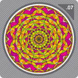 Colorful kaleidoscope. Vector. Stock Photography